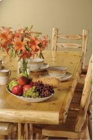 Log Dining Table 5-foot, Liquid Glass Finish Product Image