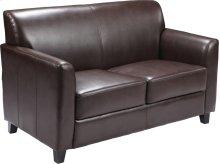 HERCULES Diplomat Series Brown Leather Loveseat
