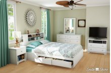 Mates Bed and Bookcase Headboard Set - 60''