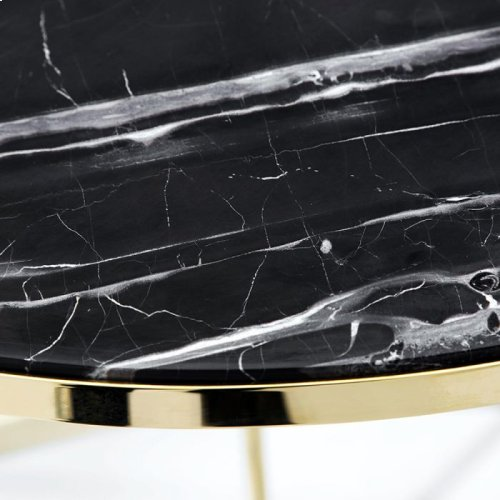 Carina Bistro Table - Nero Storm