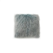Lamb Fur Pillow Large Blue Snow
