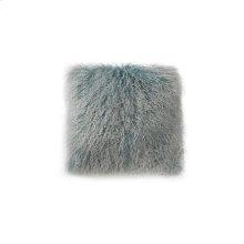 Lamb Fur Pillow Large Blue Snow