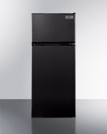 Energy Star Qualified ADA Compliant Refrigerator-freezer In Black With Frost-free Operation
