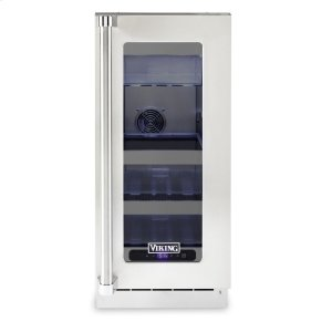"""Viking15""""W. Stainless Steel Interior Undercounter Refrigerator - VURE Viking Professional Product Line"""