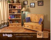Bench with bottom storage