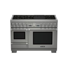 48 inch Professional Series Pro Grand Commercial Depth Dual Fuel Steam Range PRD48NLSGC