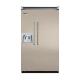 """Taupe 48"""" Quiet Cool™ Side-by-Side with dispenser - VISB Tru-Flush™ (48"""" wide)"""