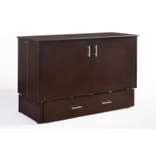 Sagebrush Murphy Cabinet Bed in Dark Chocolate Finish