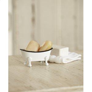 Mini Black & White Enamel Bathtub