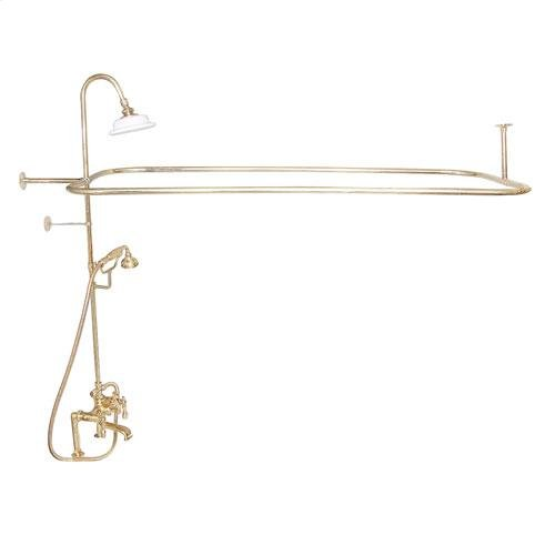 Code Rectangular Shower Unit - Lever / Polished Brass