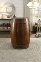 Wine Barrel Refrigerator, Dark Oak Product Image