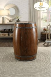 Wine Barrel Refrigerator, Dark Oak Product Image