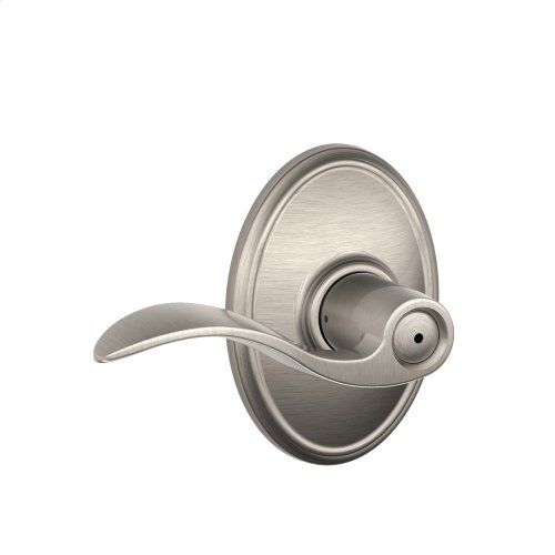 Accent Lever with Wakefield trim Bed & Bath Lock - Satin Nickel