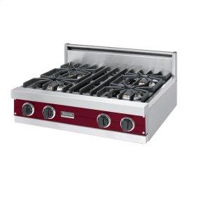 """Burgundy 30"""" Sealed Burner Rangetop - VGRT (30"""" Wide, four burner)"""