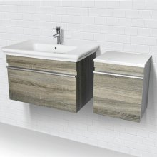 Lakeside ® Wall Mount Vanity With Side Cabinet - Grey