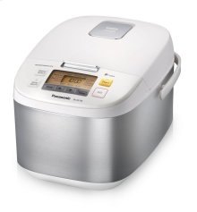 10 Cup (uncooked) Microcomputer Controlled Rice Cooker - Stainless Steel/White - SR-ZG185