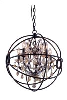 "1130 Geneva Collection Chandelier D:17"" H:19.5"" Lt:4 Rustic Intent Finish (Royal Cut Golden Teak Crystals) Product Image"