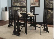 5 Pc. Black Contemporary Dining Set