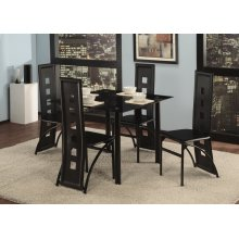 5 Pc. Black Contemporary Dining Set