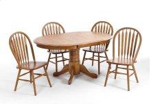 Dining - Classic Oak Chestnut Laminate Pedestal Table