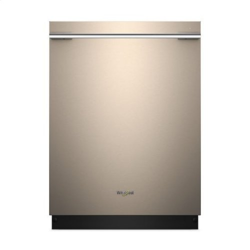 Whirlpool® Contemporary Design. Smart Dishwasher with Contemporary Handle - Sunset Bronze