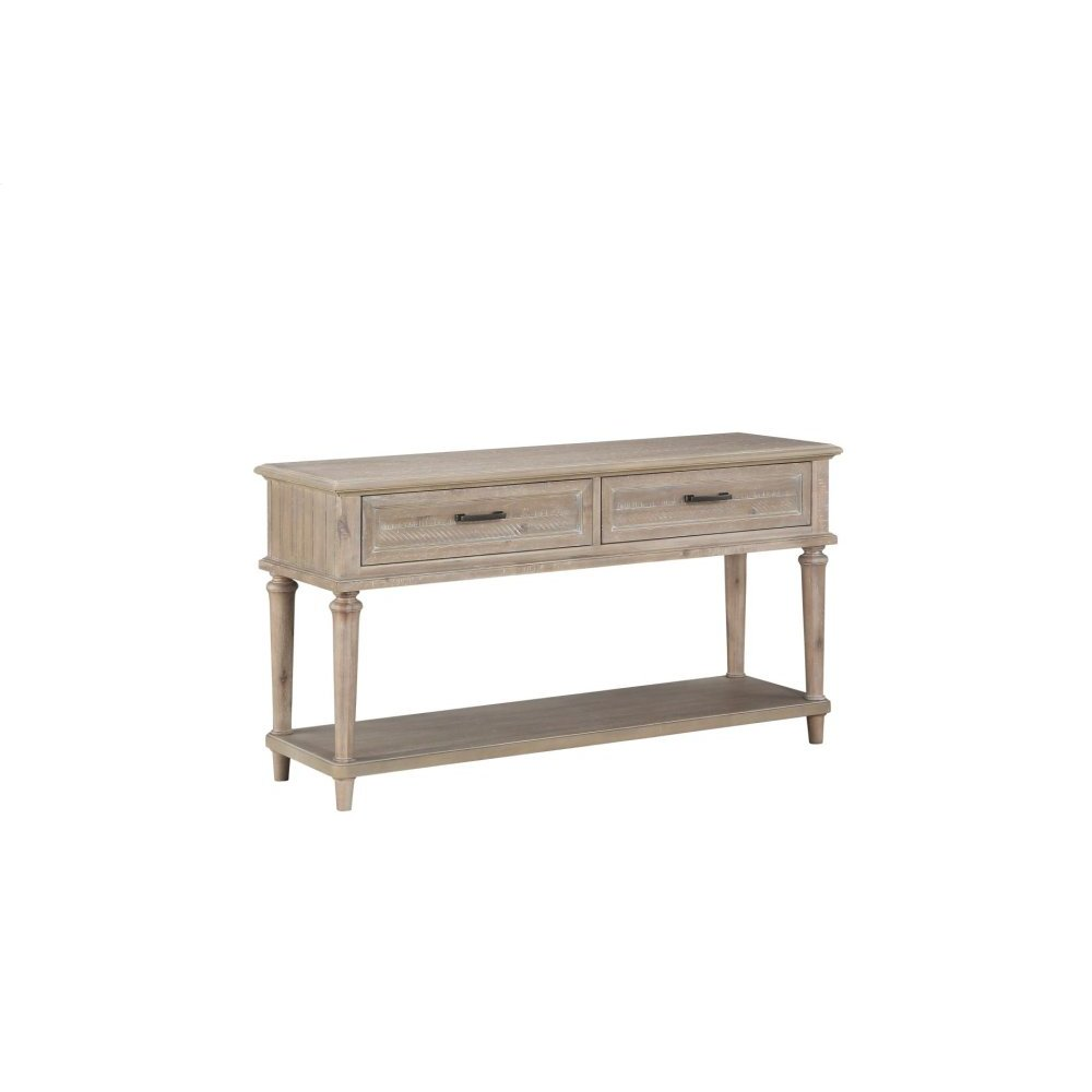Sofa Table With Two Functional Drawers, Brown