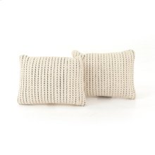 """16x24"""" Size Ari Rope Weave Pillow, Set of 2"""
