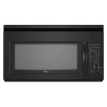 Black Whirlpool® 1.6 cu. ft. Microwave-Range Hood Combination