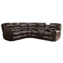 3-Piece Reclining Sectional with RAF Console