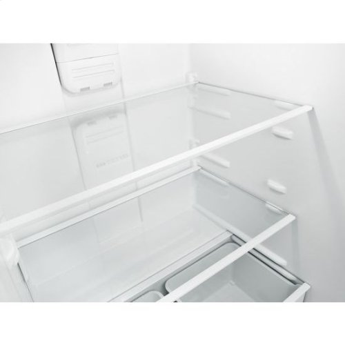 30-inch Amana® Top-Freezer Refrigerator with Glass Shelves - black