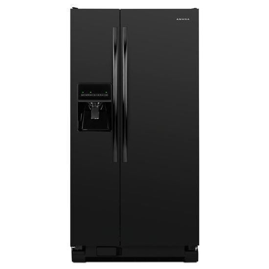 amana   32 inch wide amana   side by side refrigerator with adjustable hidden asd2275brb in black by amana in hannibal mo   amana   32 inch wide      rh   vansapplianceandmore com