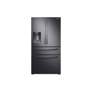 Samsung28 cu. ft. Food Showcase 4-Door French Door Refrigerator in Black Stainless Steel