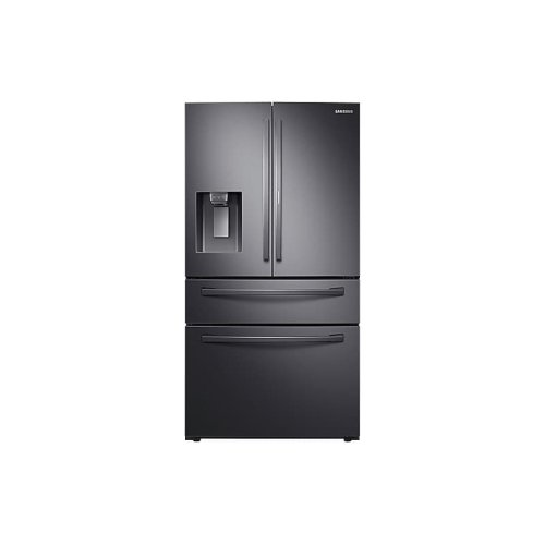 22 cu. ft. 4-Door French Door, Counter Depth Refrigerator with Food Showcase in Black Stainless Steel