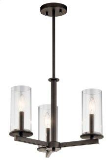 Crosby 3 Light Convertible Chandelier Olde Bronze®