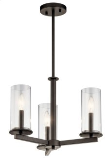 Crosby 3 Light Convertible Chandelier Olde Bronze®