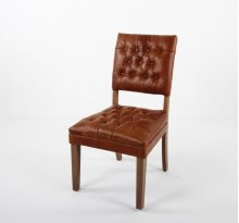 Open back parsons chair with tufted inside back and seat