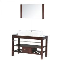 Single 47 in. W Espresso Finish Vanity Product Image