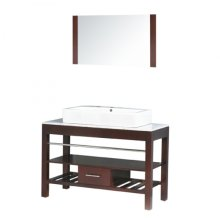 Single 47 in. W Espresso Finish Vanity