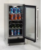 Model OBC33SSD - 3.2 CF Built-In Outdoor Refrigerator w/Glass Door Product Image
