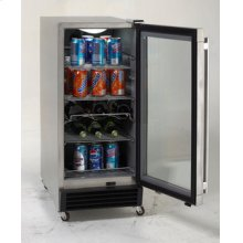Model OBC33SSD - 3.2 CF Built-In Outdoor Refrigerator w/Glass Door