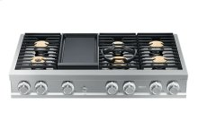 "Modernist 48"" Rangetop, Silver Stainless Steel, High Altitude Liquid Propane"