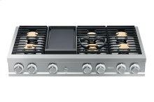"Modernist 48"" Rangetop, Silver Stainless Steel, Liquid Propane"