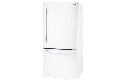 "22 cu. ft. Large Capacity 30"" Wide Bottom Freezer Refrigerator"