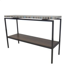Avon KD Console Table Graphite Metal Frame, Mosaic