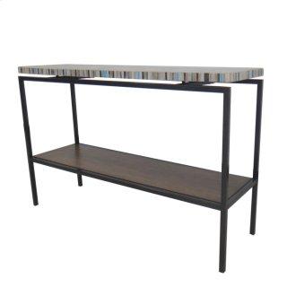 Avon KD Console Table Graphite Metal Frame, Mosaic