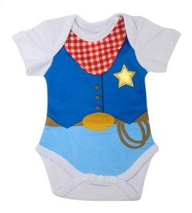 """6 pc. ppk. """"Born for Boots, Chaps, & Cowboy Hats"""" 3D Diaper Shirts."""