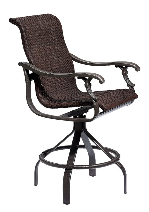 Ravello Woven Swivel Bar Stool