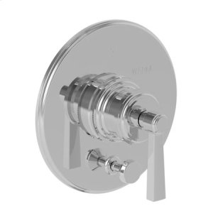 Gun Metal Balanced Pressure Tub & Shower Diverter Plate with Handle. Less Showerhead, arm and flange.
