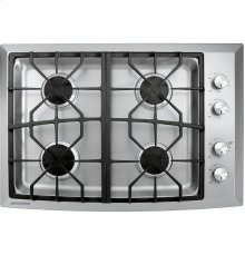 "Monogram 30"" Stainless Steel Gas Cooktop (Natural Gas)"