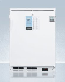 """24"""" Wide Built-in All-refrigerator In White, Auto Defrost With A Lock, Nist Calibrated Thermometer, Digital Thermostat, Door Storage, and Internal Fan"""